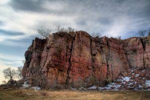 Quartzite Outcrop - Blue Mounds State Park MN